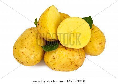 Potato Sweet Batata Isolated on White Background Studio Photo