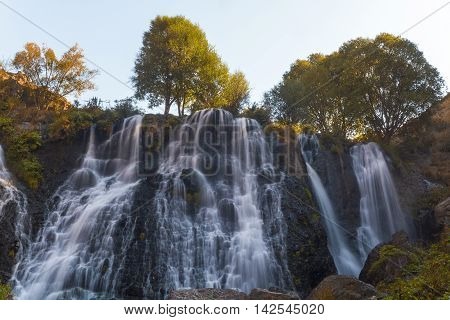 Shaki waterfalls near the city of Tatev in Armenia.