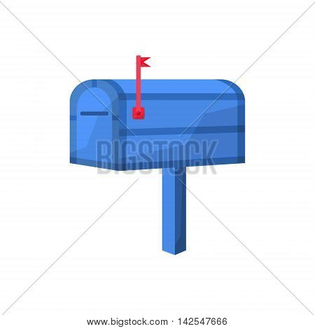 Postbox image in the cartoon style. Mailbox vector illustration. Letter-box isolated on a white background. Mailbox of flat style.