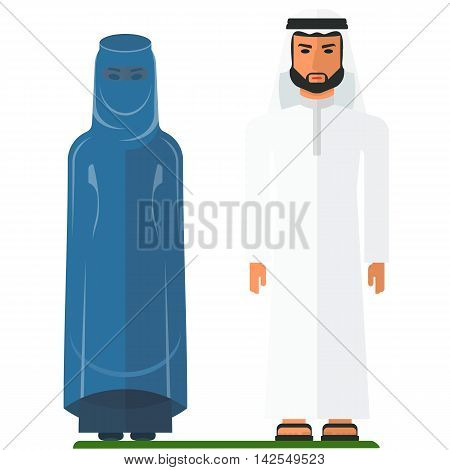 Arabian People In Traditional Clothes