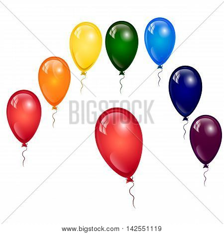 celebrations, vector, illustrations, balloon, birthday, decoration, fun, gift, shiny, design, party, white, happiness, holiday, social, event, colors, multi, greeting, surprise, reflection, helium, card, entertainment, objects, flying, air, mid-air, colle