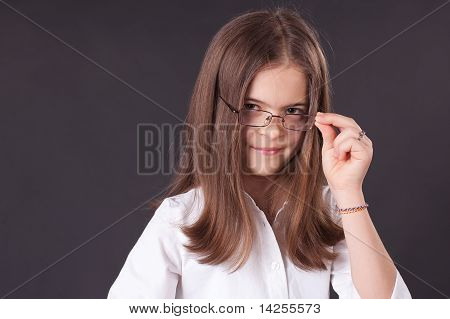 Beautiful Girl In Glasses