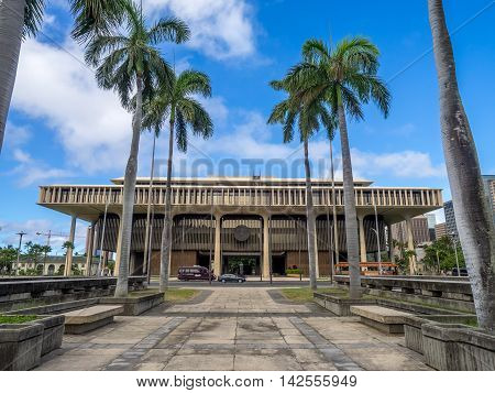 HONOLULU, HI - AUG 6:  Hawaii State Legislature on August 6, 2016 in Honolulu Hawaii. The Hawaii State Legislature is the state legislature of the U.S. state of Hawaii.