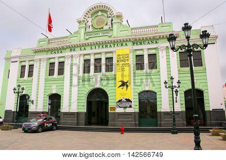 Lima, Peru - January 31: House Of Peruvian Literature On January 31, 2015 In Lima, Peru. The Buildin