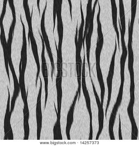White Tiger Fur Seamless Pattern