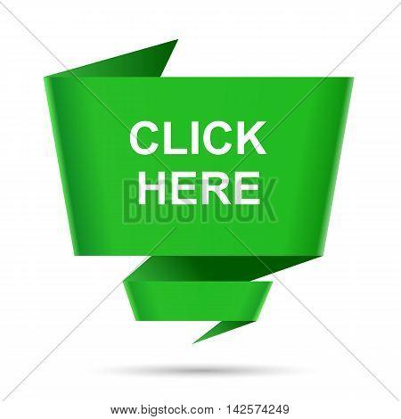 speech bubble click here design element sign symbol set