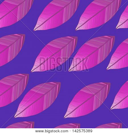 Seamless vector pattern with colored degrade leaves. Foliage