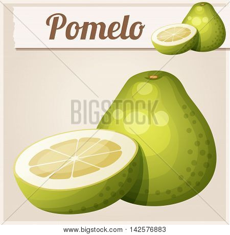 Pomelo fruit. Cartoon vector icon. Series of food and drink and ingredients for cooking.