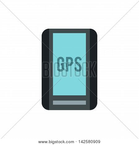 Handheld JPS icon in flat style isolated on white background. Navigation symbol