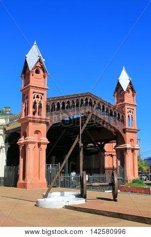 Asuncion, Paraguay - December 26: Former Train Station On December 26, 2014  In Asuncion, Paraguay.
