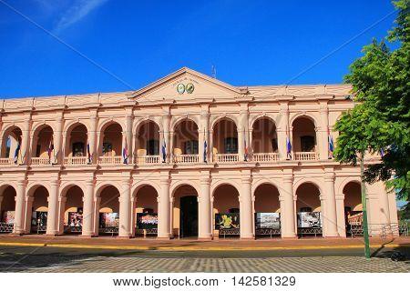 Asuncion, Paraguay - December 26: Town Council Building (cabildo) On December 26, 2014 In Asuncion,