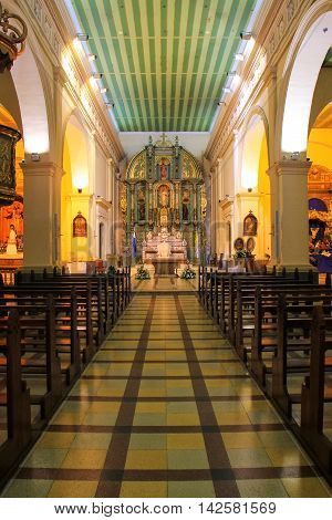 Asuncion, Paraguay - December 26: Interior Of  Metropolitan Cathedral Of Our Lady Of The Assumption