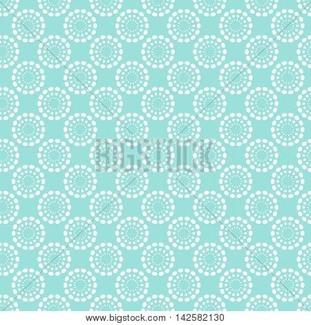 Vintage pale blue seamless pattern. Vector illustration. Endless texture for wallpaper, fill, web page background, surface texture. Shabby geometric ornament.