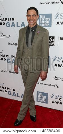 NEW YORK-APR 27: Designer Zac Posen attends the 42nd Chaplin Award Gala at Alice Tully Hall, Lincoln Center on April 27, 2015 in New York City.