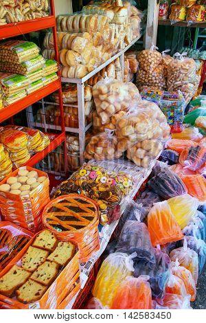 Asuncion, Paraguay - December 26: Display Of Food At Mercado Cuatro On December 26, 2014 In Asuncion