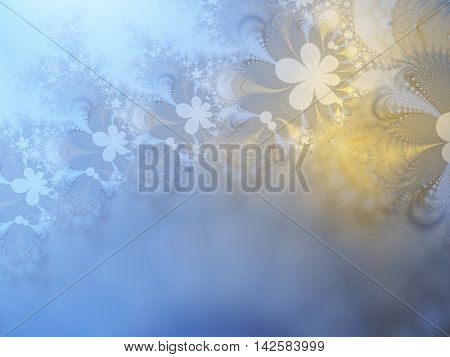 Abstract background with gradient multiple colors-light blue, light yellow.