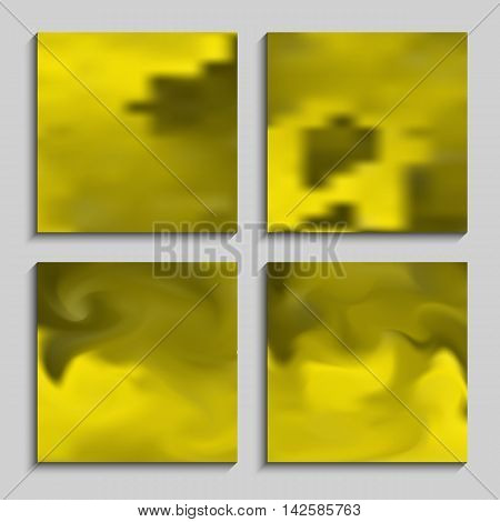 Set blurry backgrounds for creative design. Collection banners, posters, covers in yellows tones.
