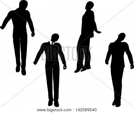 Man Silhouette In Sorrowful Pose