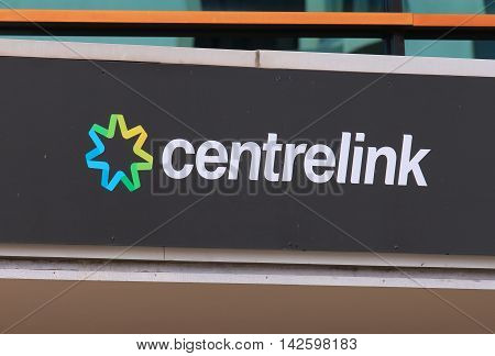 MELBOURNE AUSTRALIA - AUGUST 14,2016: Centrelink office in Australia. Centrelink delivers a range of government payments and services for retirees, unemployed, families carers and more.