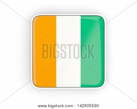 Flag Of Cote D Ivoire, Square Icon