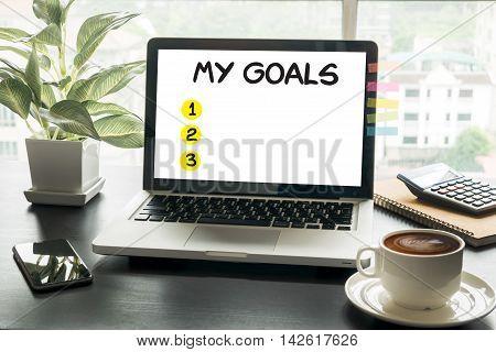 My Goals  Handwriting Of My Goals