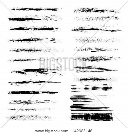 Vector art brushes. Grunge brushes set. All used brushes are included in brush palette.