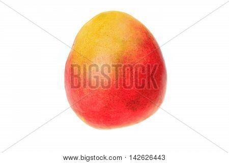 Ripe mango isolated on a white background