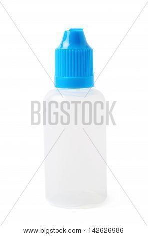 Plasic 30 ml bottle isolated over the white background