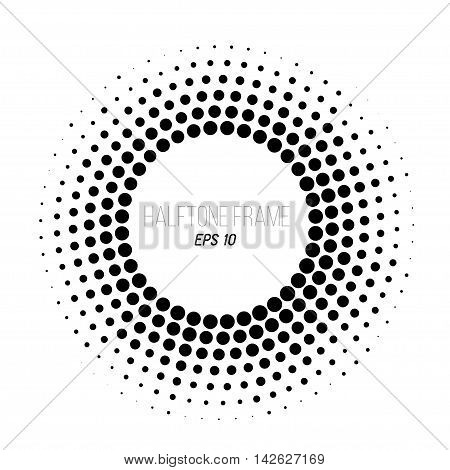 color halftone frame. Gradient banner. Stock vector background