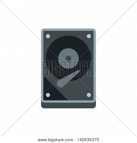 CD rom icon in flat style isolated on white background. Computer symbol