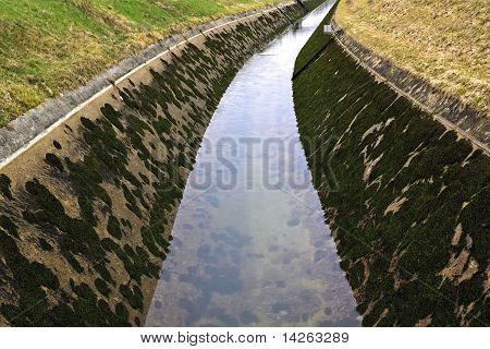 Artificial Water Channel With Low Level Of Water