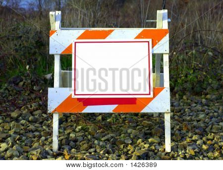Empty Road Construction Sign Board