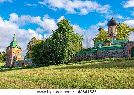 Outside of Puhtitsa Dormition Convent. Kuremae Estonia Baltic States Europe