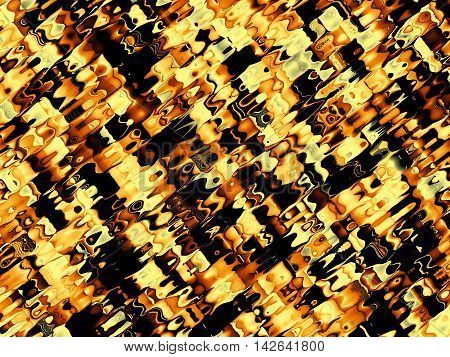 Fractal artwork for creative design. Abstract wavy background in exotic safari style