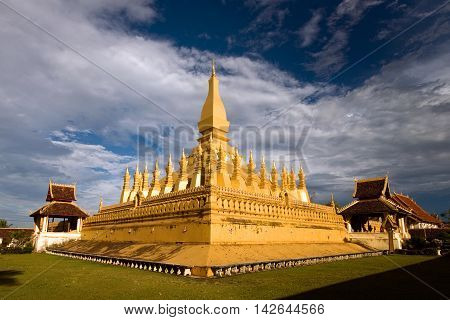 Golden pagoda in the evening so beatiful.