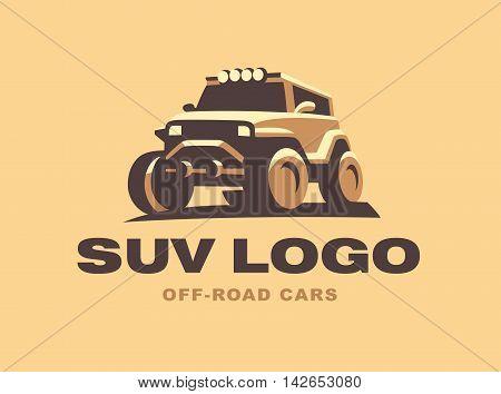 SUV logo car emblem, color version design