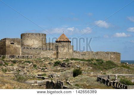 Old ottoman Akkerman fortress in Bilhorod-Dnistrovskyi. Ukraine