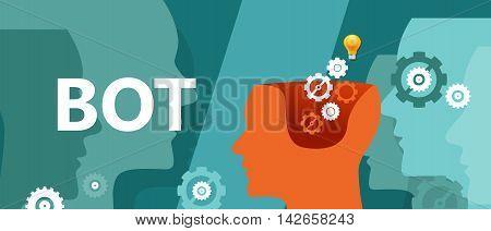 Bot head gear illustration computer technology head gear vector
