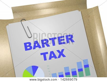 Barter Tax Concept