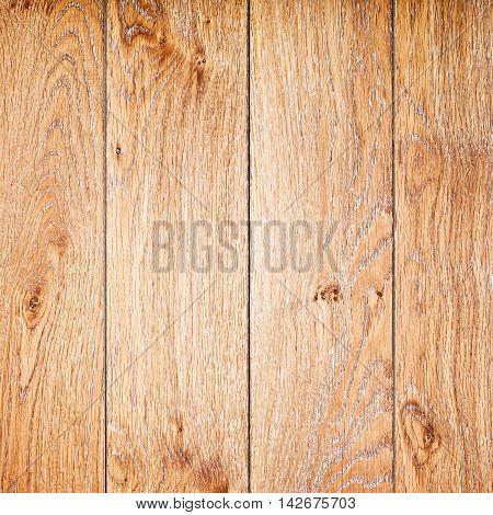 wall of brown oil oak boards, background