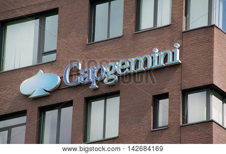 Amsterdam Netherlands-august 14 2016: Capgemini is a French consulting firm which has been working in the ICT and consultancy.