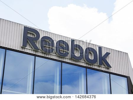 Amsterdam Netherlands-august 14 2016: letters reebok on the headquarters in Amsterdam