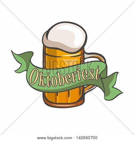 Mug of beer. Mug of ale. Pint of beer. Pint of ale. Festival. Oktoberfest. Cold beer. Mug of beer color. Mug of beer simple.