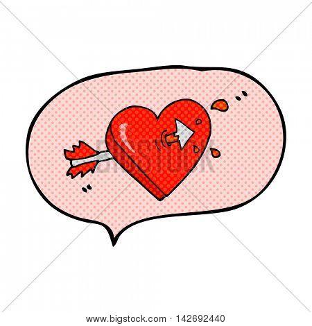 freehand drawn comic book speech bubble cartoon arrow through heart freehand drawn comic book speech bubble cartoon