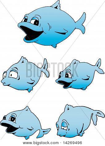 Cute Blue Fish