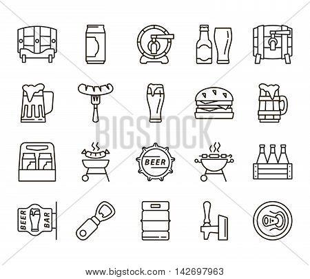 Beer bottle. Can of beer. Pint of beer. Pint of ale. Beer keg. Ale barrel. Beer simple. Beer icons. Beer flat. Beer linear. Beer snacks. Snacks icons. Snacks linear. Snacks flat.