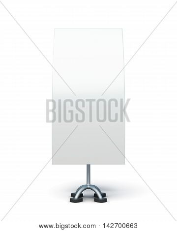 Bilateral Advertising Stand Isolated On A White Background. 3D Rendering
