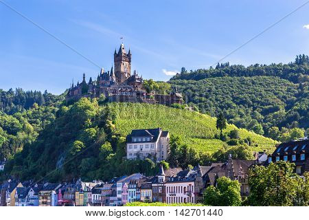 Cochem town on the Mosel Panorama picture