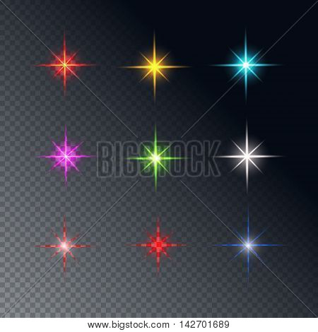 Collection of sparkle vector. Symbols sparkling stars. Set of sparkles star. Sparkle light. Sparkling stars.