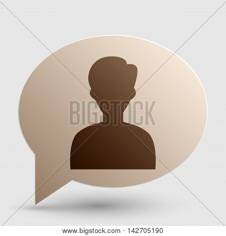 User avatar illustration. Anonymous sign. Brown gradient icon on bubble with shadow.
